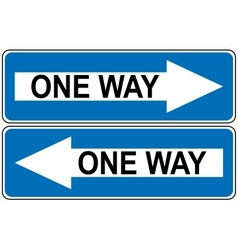 Ahead Only one way traffic sign Drive Straight vector image vector image