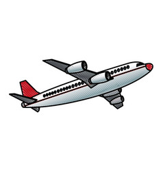 Airplane fly transport commercial travel vector