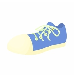 Blue sneaker icon cartoon style vector