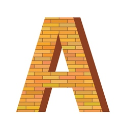 brick letter A vector image vector image