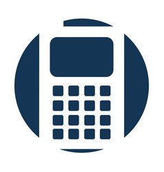 cellphone device isolated icon vector image