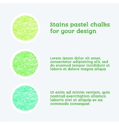 design elements pastel chalks vector image