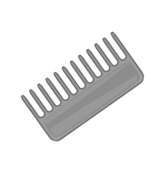 Hairbrush barber comb icon black monochrome style vector