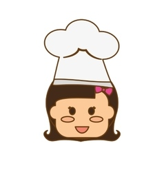 Kid with chef hat vector