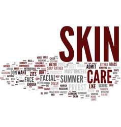 Masculine skin care for the summer text vector