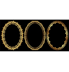Oval frames vector