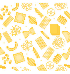 pasta pattern background vector image