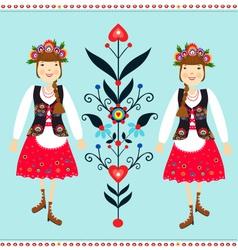 Polish folk vector