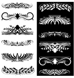 Set of decorative design elements vector