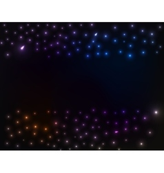 Space background colorful stars vector image