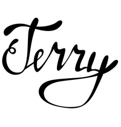 Terry name lettering vector