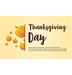 Thanksgiving day collection stock card vector