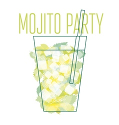 Concept poster of mojito cocktail vector