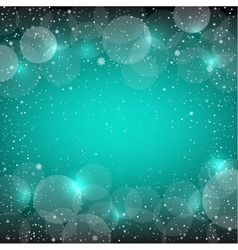 Christmas azure snow bokeh backdrop vector