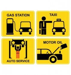 auto service signs vector image