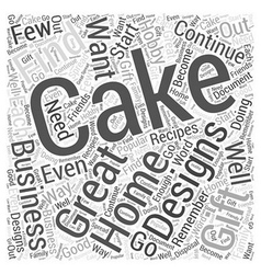 Cake designs word cloud concept vector