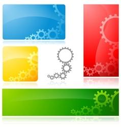 Cogwheel banner vector
