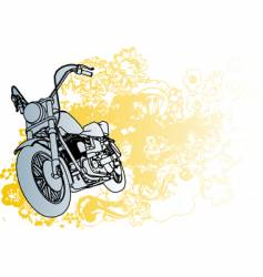 groovey motercycle illustration vector image