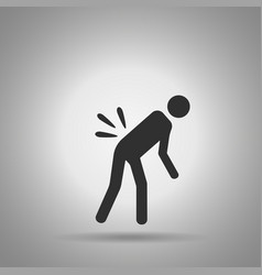 Backache icon the person with back pain vector