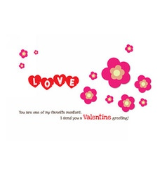 Valentine flower heart card vector