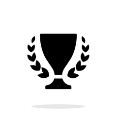 Trophy and awards icon on white background vector
