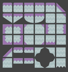 Tileset platformer purple ground vector
