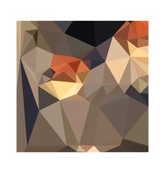 Cool black blue brown abstract low polygon vector