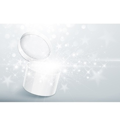 Christmas silver box vector