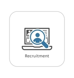 Recruitment icon business concept flat design vector