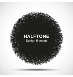 Abstract Halftone Dots Circle vector image