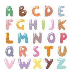 English funny cartoon alphabet vector
