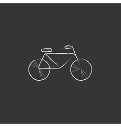 Bicycle drawn in chalk icon vector