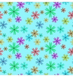 Flower color seamless pattern vector