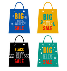 Big winter summer holiday black friday sale vector