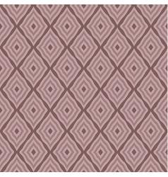 Brown rhombus seamless pattern vector image vector image
