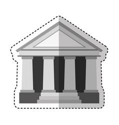 building roman columns icon vector image vector image