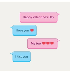 Chat bubbles valentines day vector