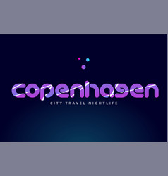 Copenhagen european capital word text typography vector