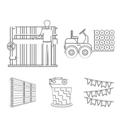 Equipment machine forklift and other web icon in vector