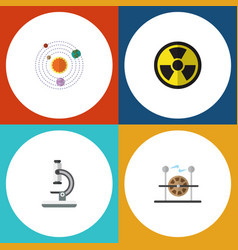 flat icon knowledge set of electrical engine vector image