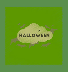 Flat shading style icon cloud bats vector