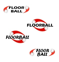 Floorball text for logo the team and the cup vector