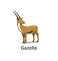 Gazelle african savannah cartoon vector