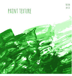 green hand paint watercolor vector image