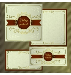 Greeting and invitation cards Cover with vintage vector image