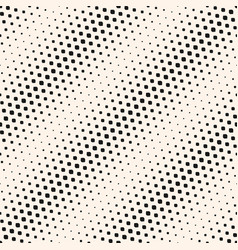 halftone seamless pattern with diagonal gradient vector image vector image