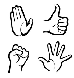 hands symbols collection vector image