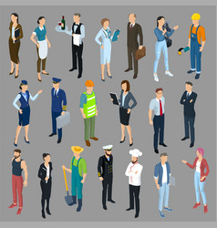 isometric people vector image