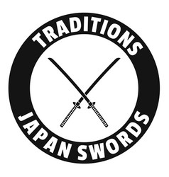katana logo simple black style vector image