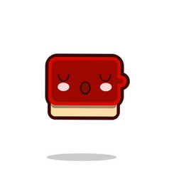 ketchup sauce cartoon character icon kawaii fast vector image vector image